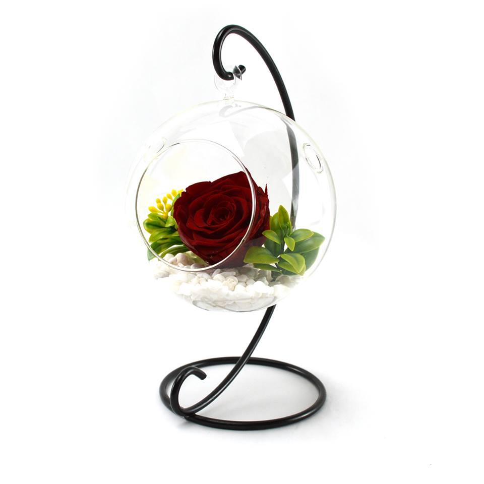Decoratiune cu trandafiri criogenati