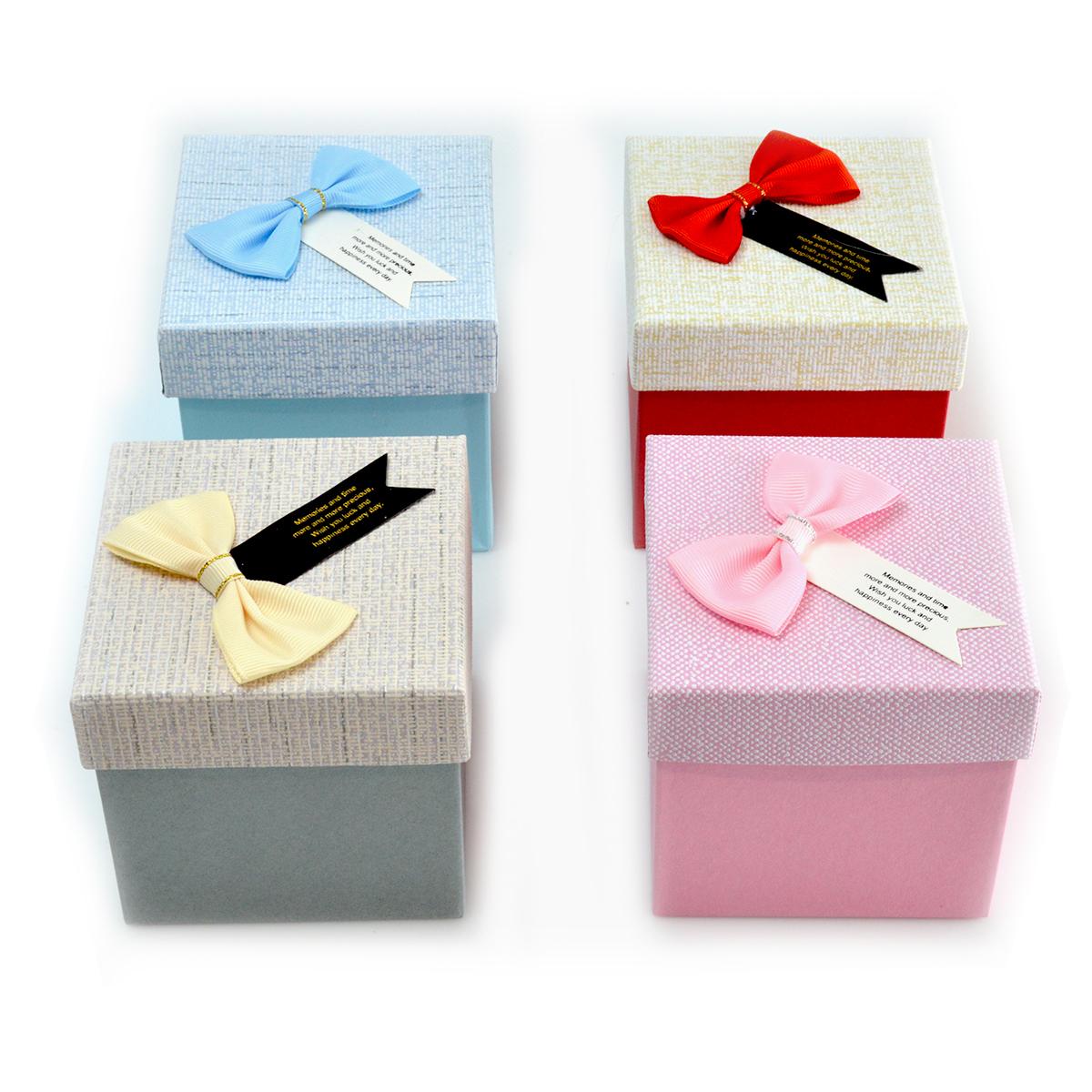Set 4 cutii patrate culori mixte cu mesaj
