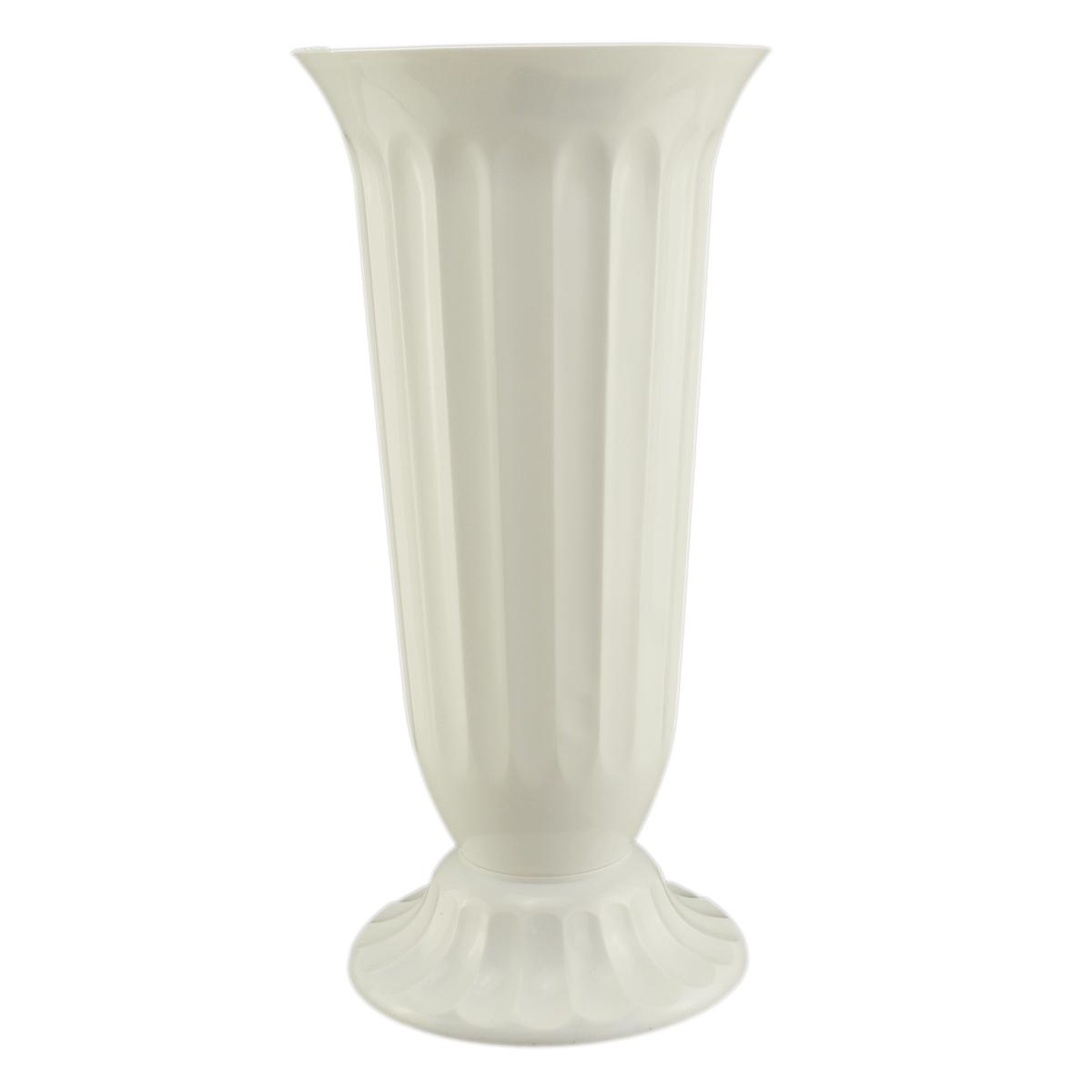 Vaza podea 22x45 cm alb