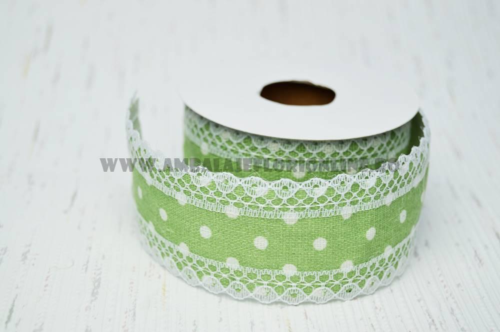Rola Sac cu Buline Verde - ambalaje si accesorii florale