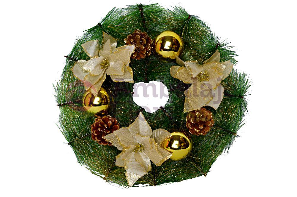 Ambalaje Flori ONLINE vinde Coronita Decorativa Craciun Cod AX2.112 la pretul de 15.9 lei