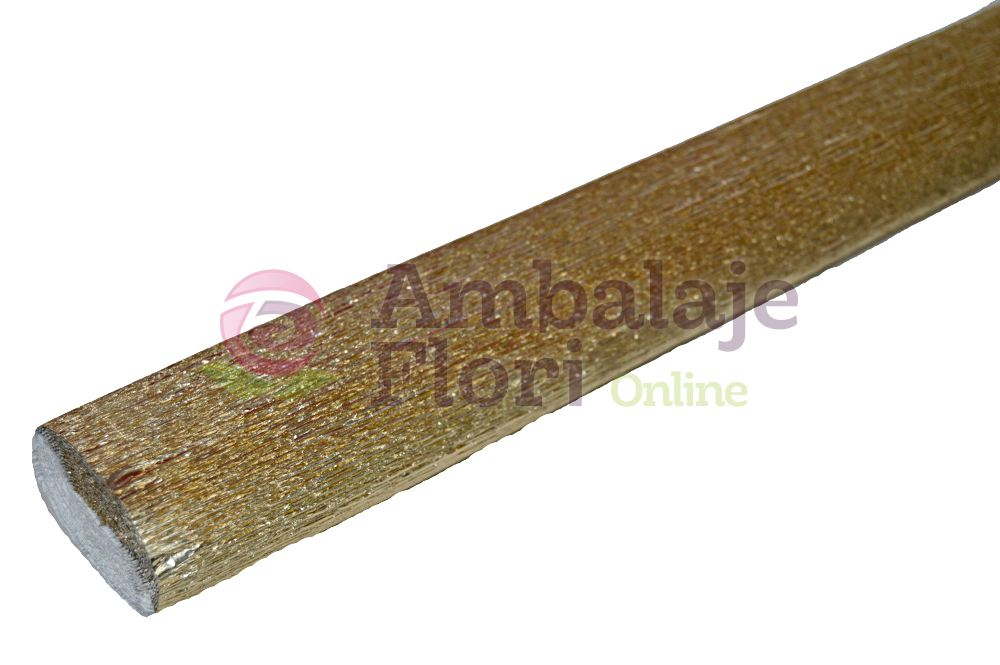 Ambalaje Flori ONLINE vinde Hartie Creponata Floristica - Platina Metalizat - cod 806 la pretul de 12.99 lei