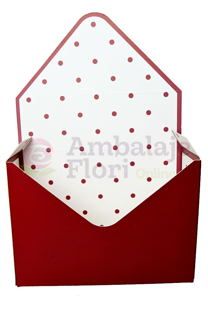 Ambalaje Flori ONLINE vinde Cutie Tip Plic Grena la pretul de 6.9 lei