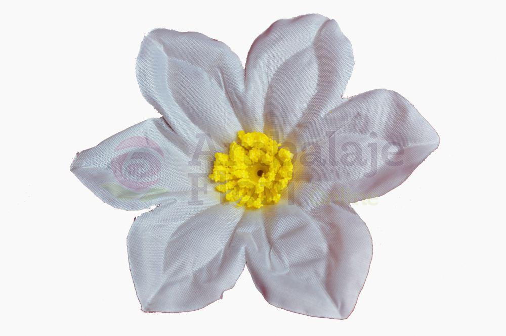 Set 90 buc flori artificiale funerare, Cap MN Alb