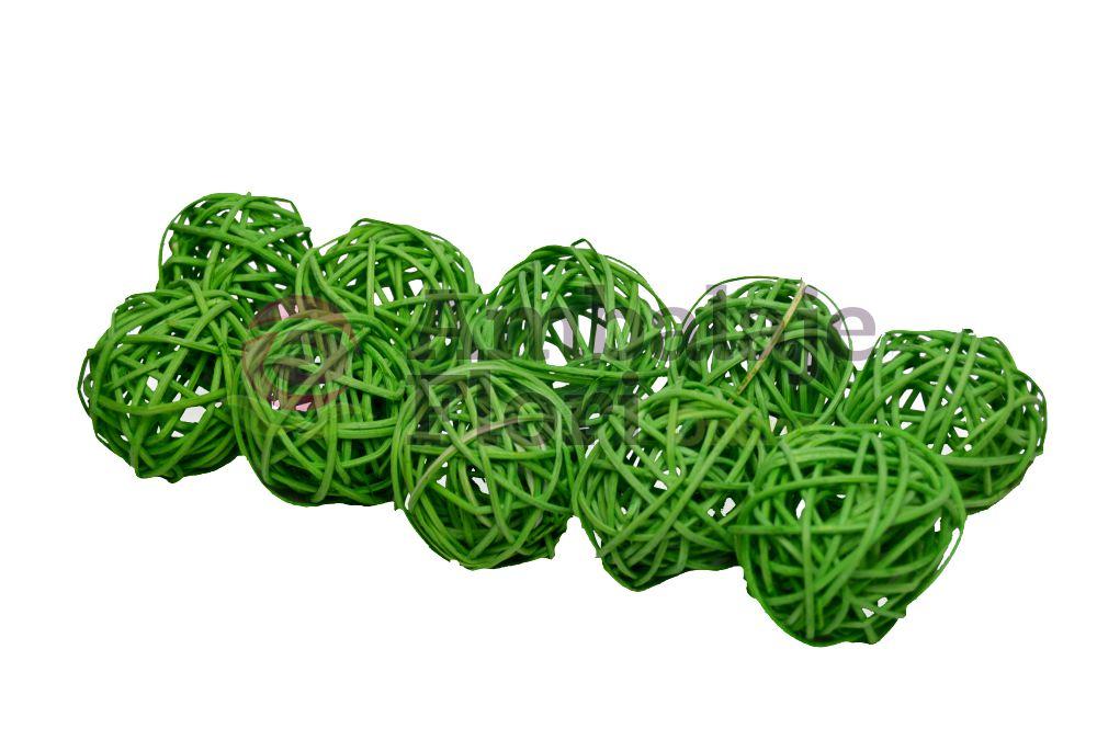 Sfera Ratan 5cm Verde