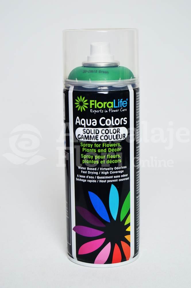 Ambalaje Flori ONLINE vinde Spray Aqua Colors Verde (Green) la pretul de 24.99 lei