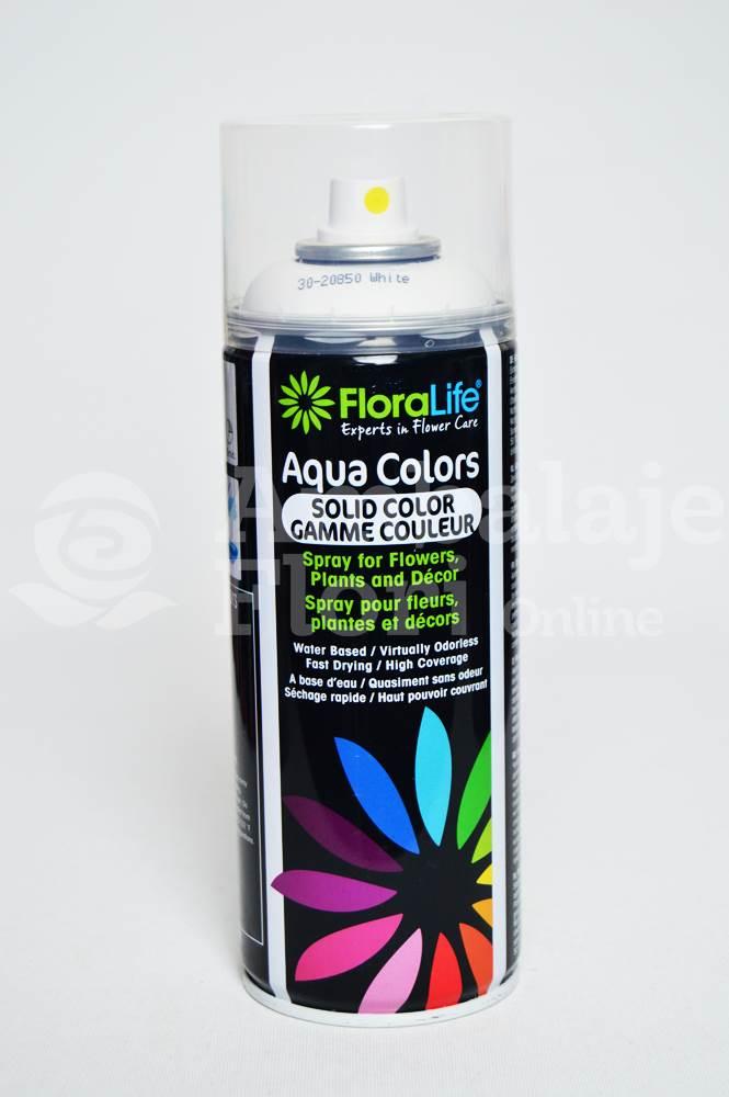 Ambalaje Flori ONLINE vinde Spray Aqua Colors Alb (White) la pretul de 24.99 lei