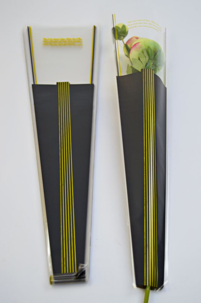 Ambalaj 1 Fir Lines - Gri - ambalaje si accesorii florale