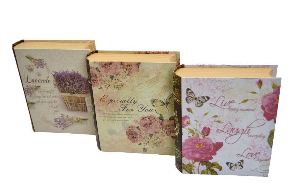 Ambalaje Flori ONLINE vinde Cutii Set 3 Carte Mica Flowers la pretul de 27.99 lei