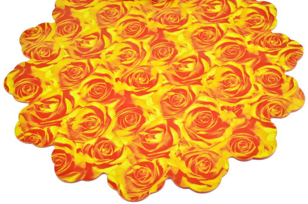 Celofan Rotund 40CM Trandafiri Rosu cu Galben