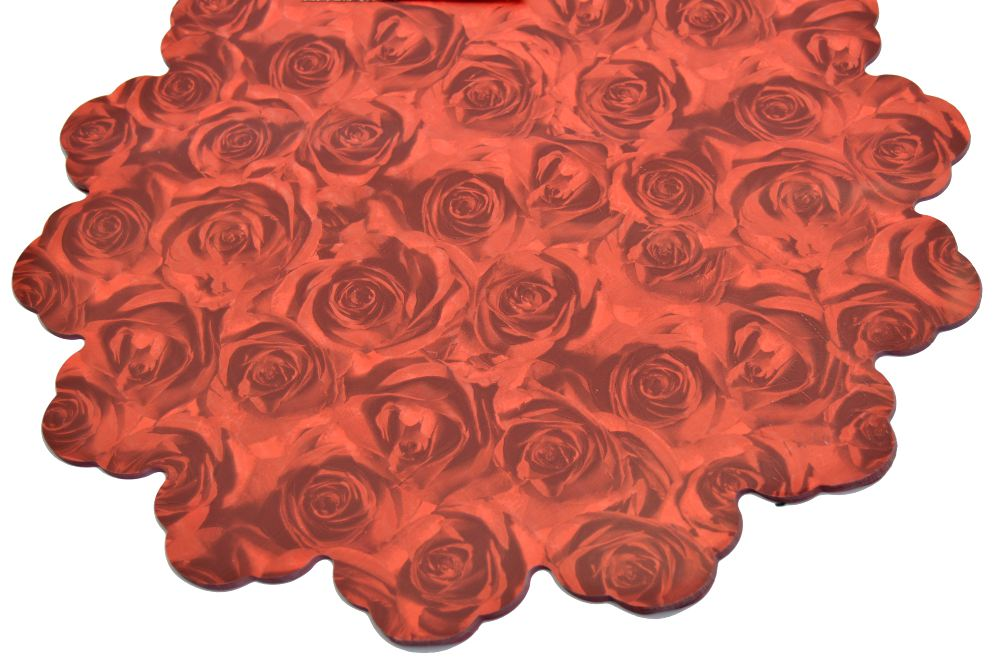 Celofan Rotund 40CM Trandafiri Rosu