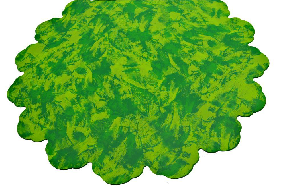 Ambalaje Flori ONLINE vinde Celofan Rotund 60CM Patat Verde cu Verde Deschis la pretul de 26.9 lei