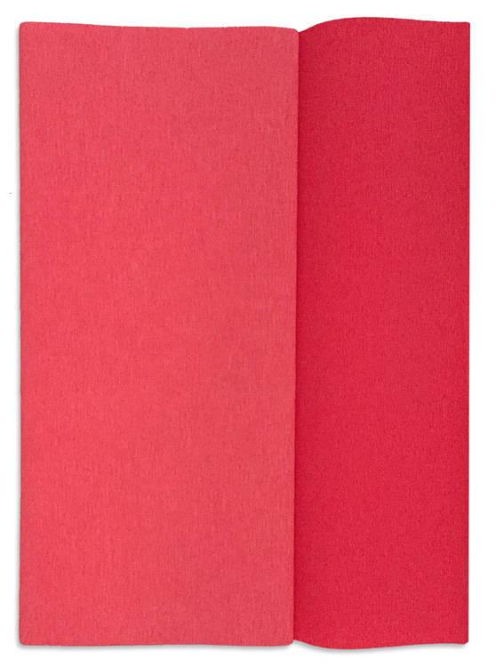 Ambalaje Flori ONLINE vinde Hartie creponata Gloria Doublette capsuna-roz lalea, cod 3310 la pretul de 6.5 lei