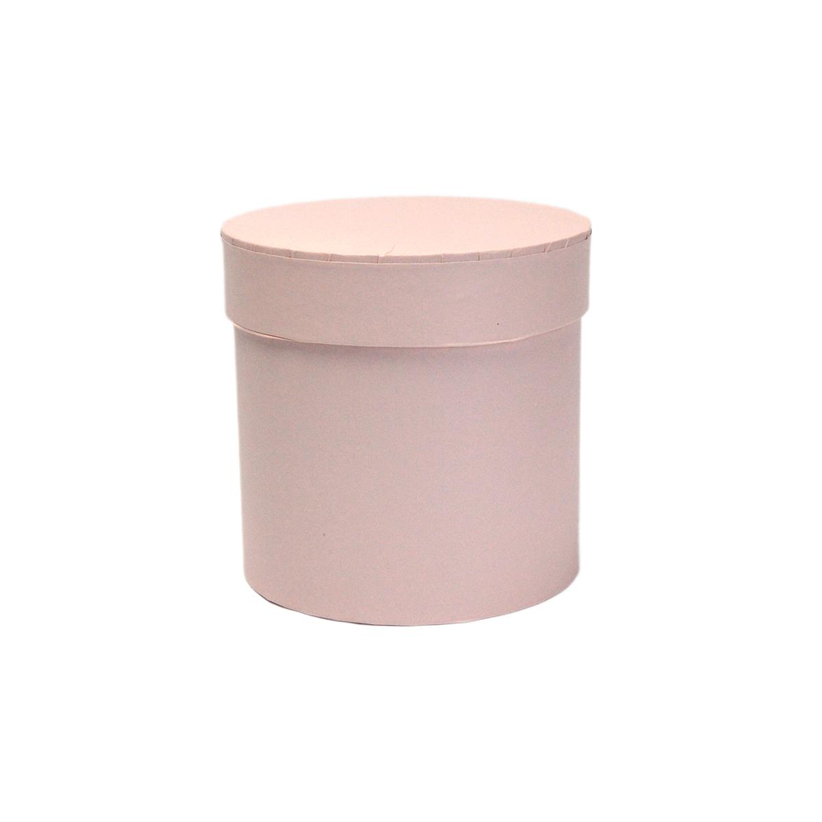 Ambalaje Flori ONLINE vinde Cutie cilindrica fara manere roz pastel 11.5x12 cm la pretul de 8.9 lei