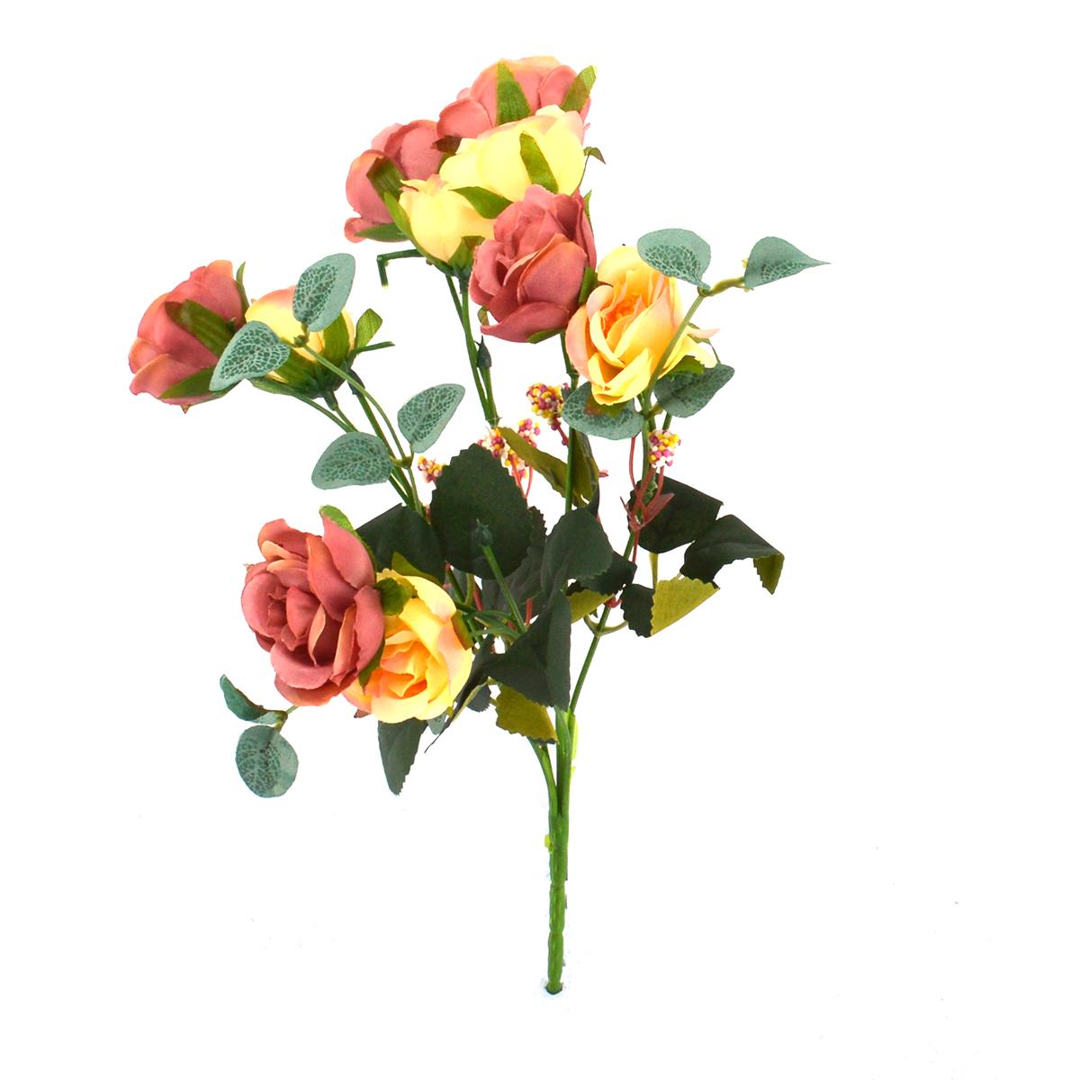 Mini Buchet 10 Trandafiri Marsalla cu Crem