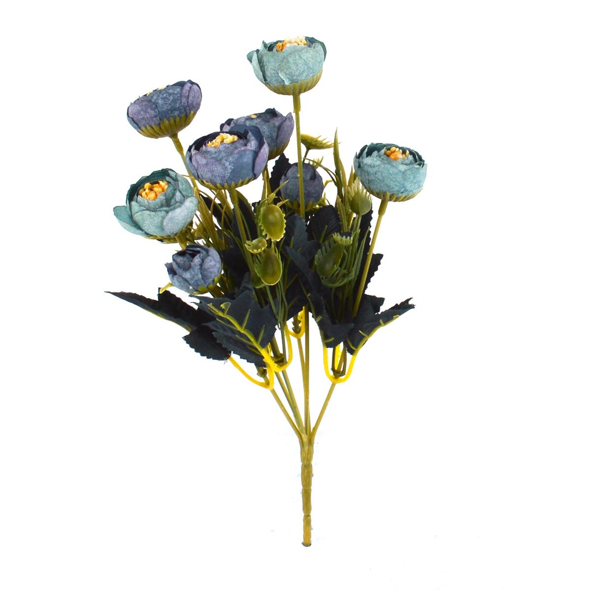 Ambalaje Flori ONLINE vinde Mini Buchet Ranunculus Vintage Albastru cu Turquoise la pretul de 7.9 lei