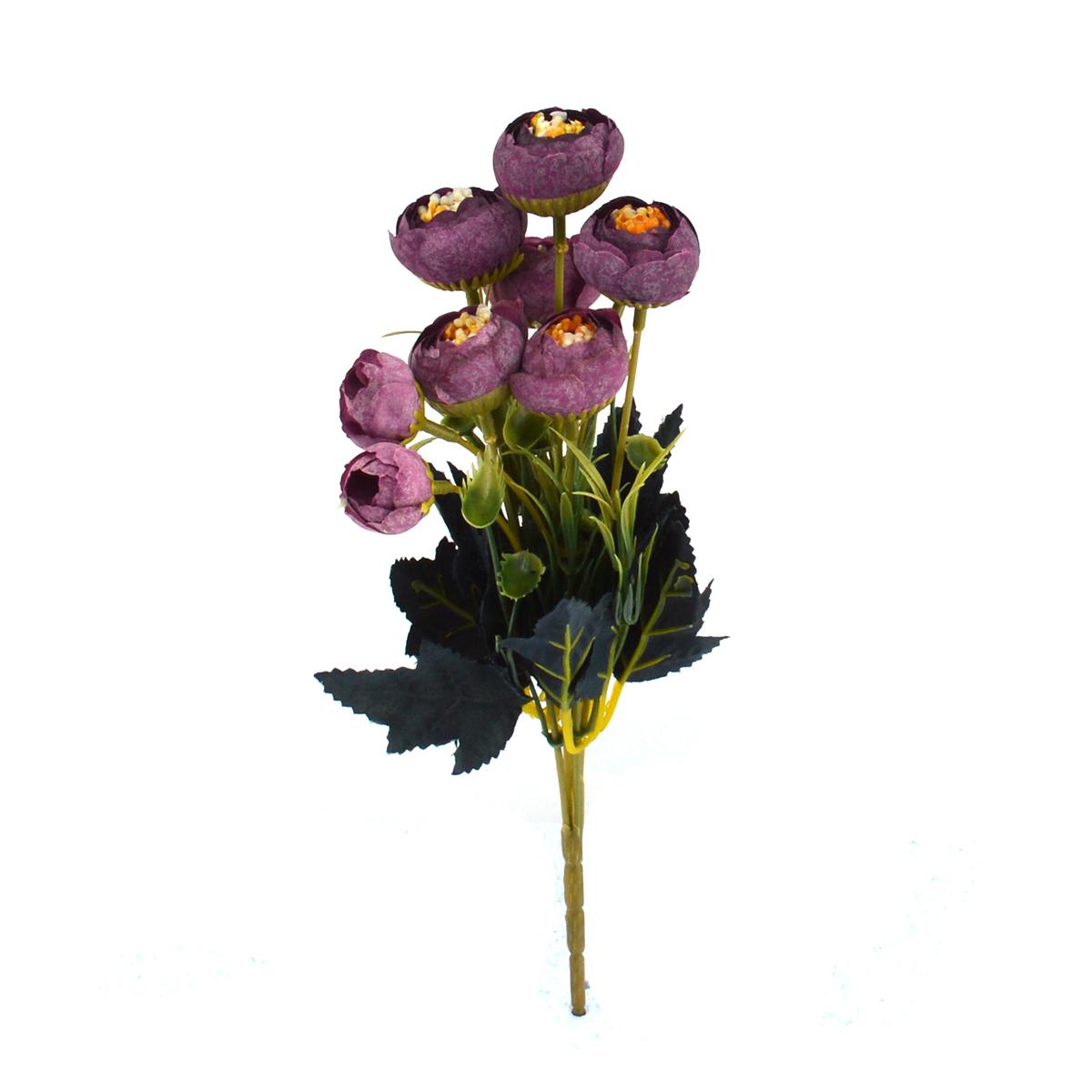 Ambalaje Flori ONLINE vinde Mini Buchet Ranunculus Vintage Marsalla la pretul de 7.9 lei