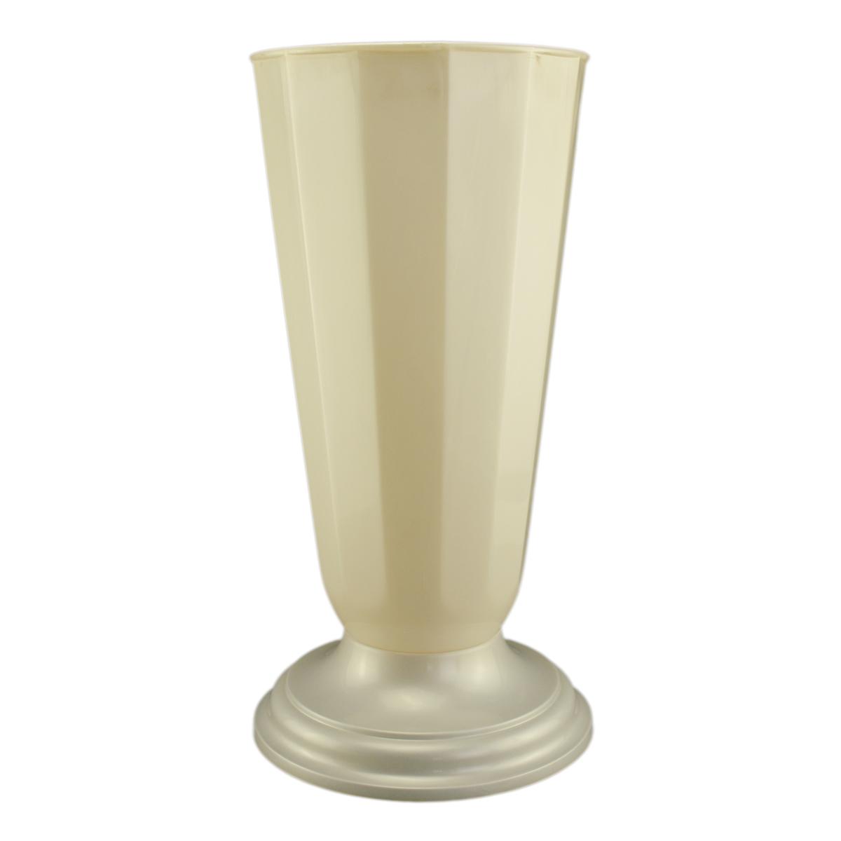 Ambalaje Flori ONLINE vinde Vaza podea 32x49 cm alb perlat la pretul de 24.99 lei
