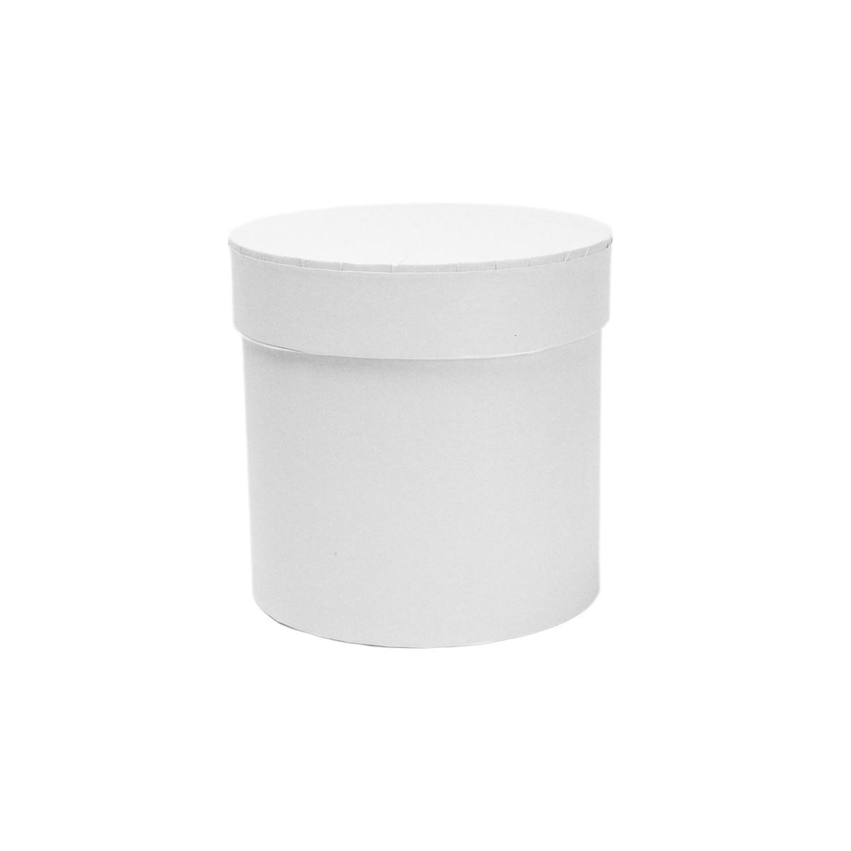 Ambalaje Flori ONLINE vinde Cutie cilindrica fara manere alba 11.5x12 cm la pretul de 8.9 lei