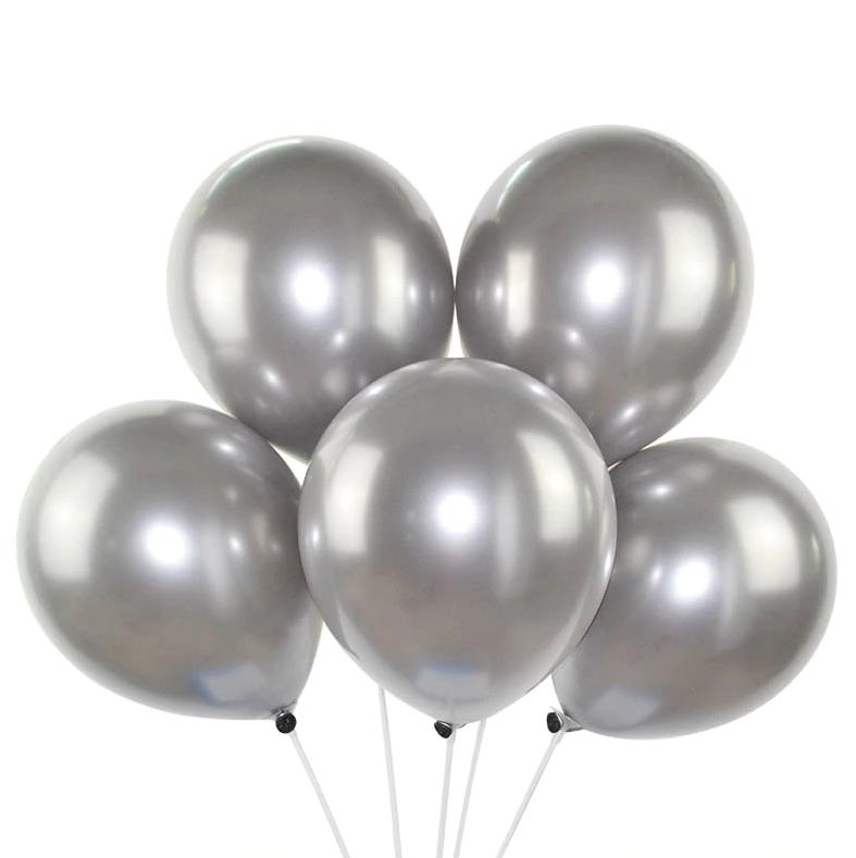 Set 25 baloane sidefate argintii