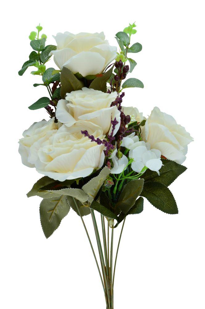 Buchet 7 Trandafiri Alb Murdar