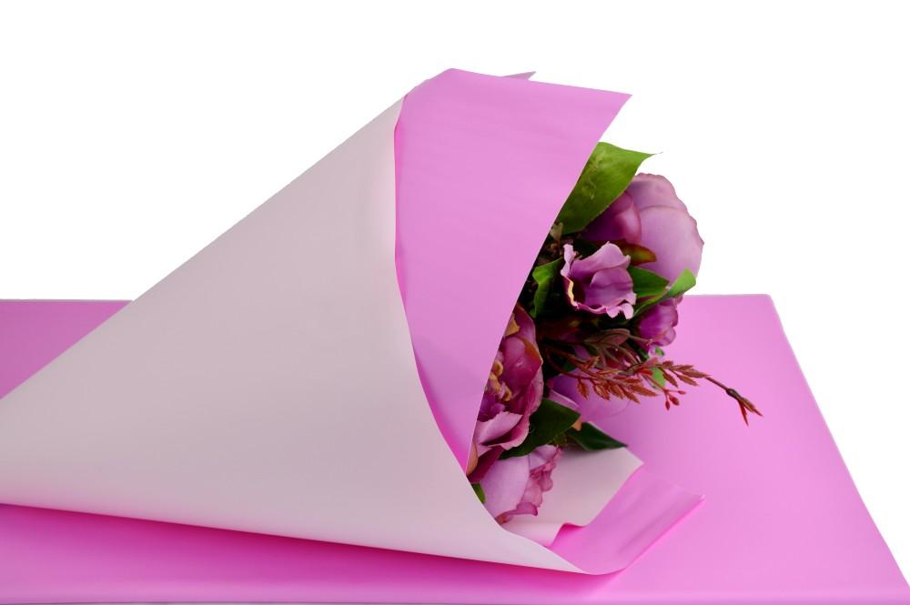 Celofan Cerat 2 Fete Roz cu Siclam