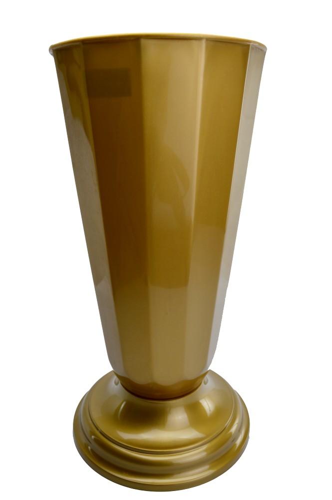 Ambalaje Flori ONLINE vinde Vaza Flori Aurie - diametru 22cm la pretul de 24.9 lei