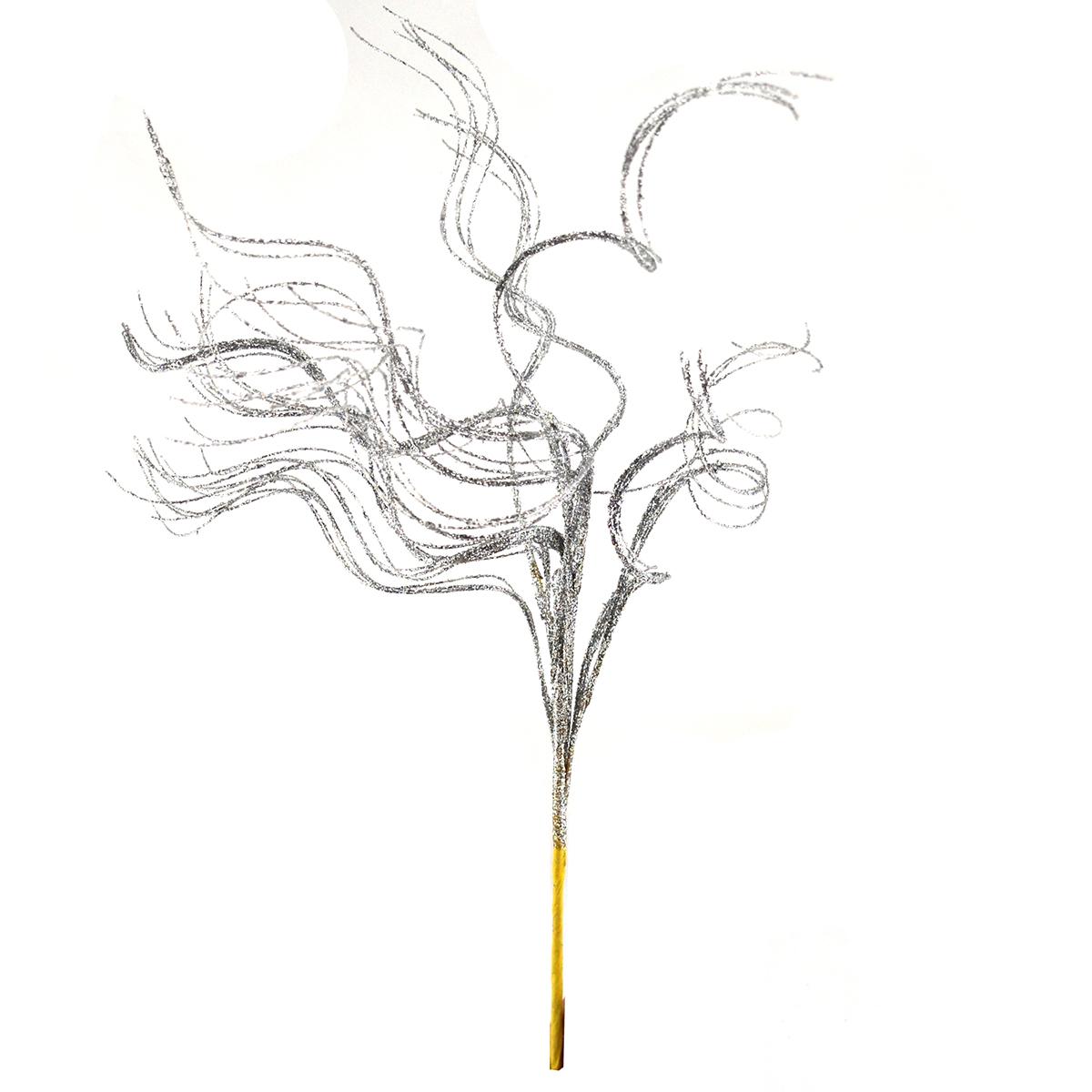 Bete ondulate cu sclipici argintiu - ambalaje si accesorii florale
