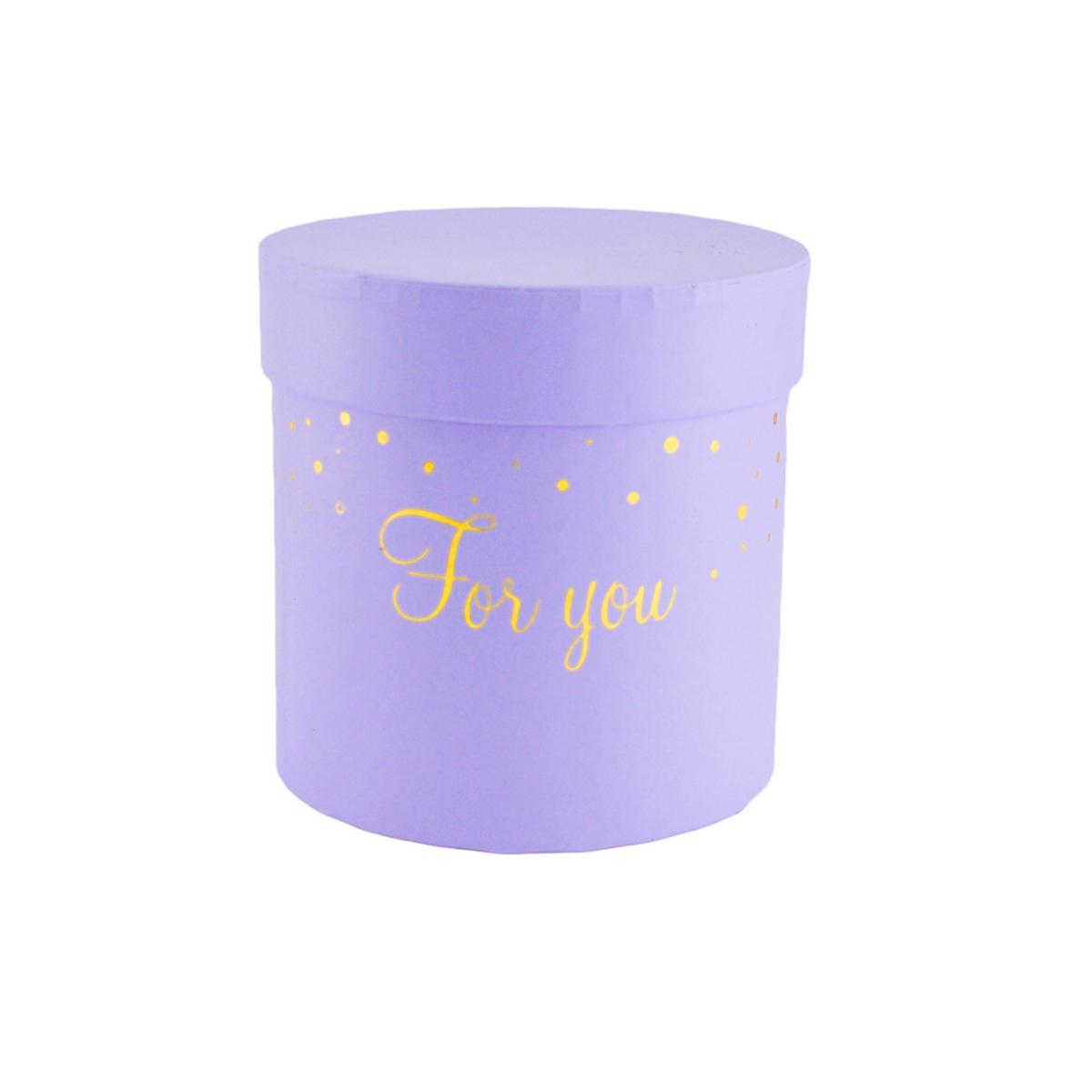 Ambalaje Flori ONLINE vinde Cutie cilindrica fara manere for you mov pastel la pretul de 8.9 lei