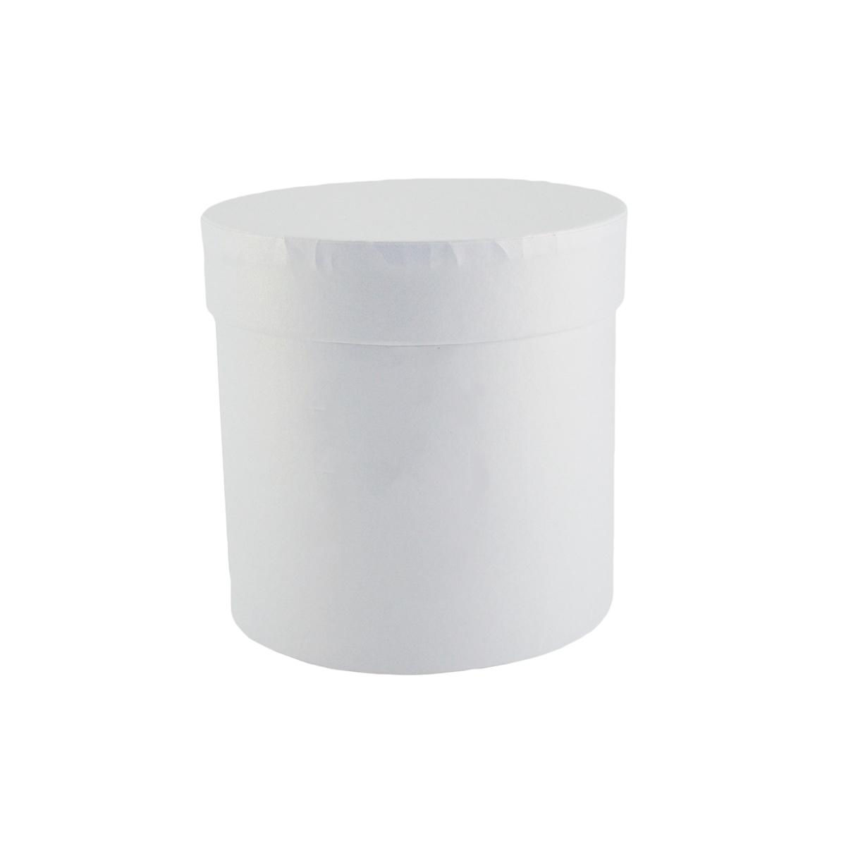 Cutie cilindrica fara manere neinscriptionata alb
