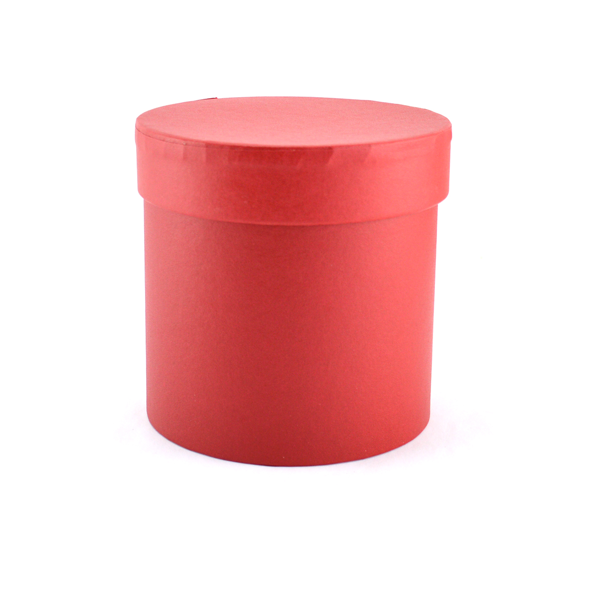Cutie cilindrica fara manere neinscriptionata rosie