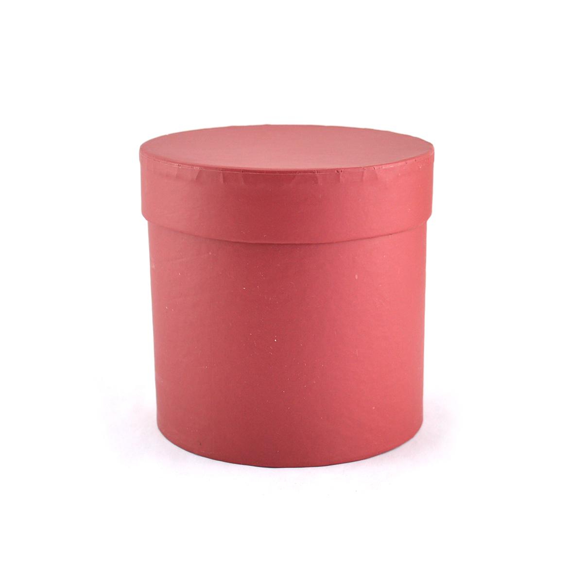 Cutie cilindrica fara manere neinscriptionata rosu inchis