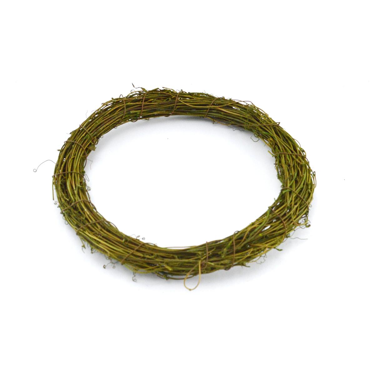 Ambalaje Flori ONLINE vinde Coronita naturala verde 25cm la pretul de 9.9 lei