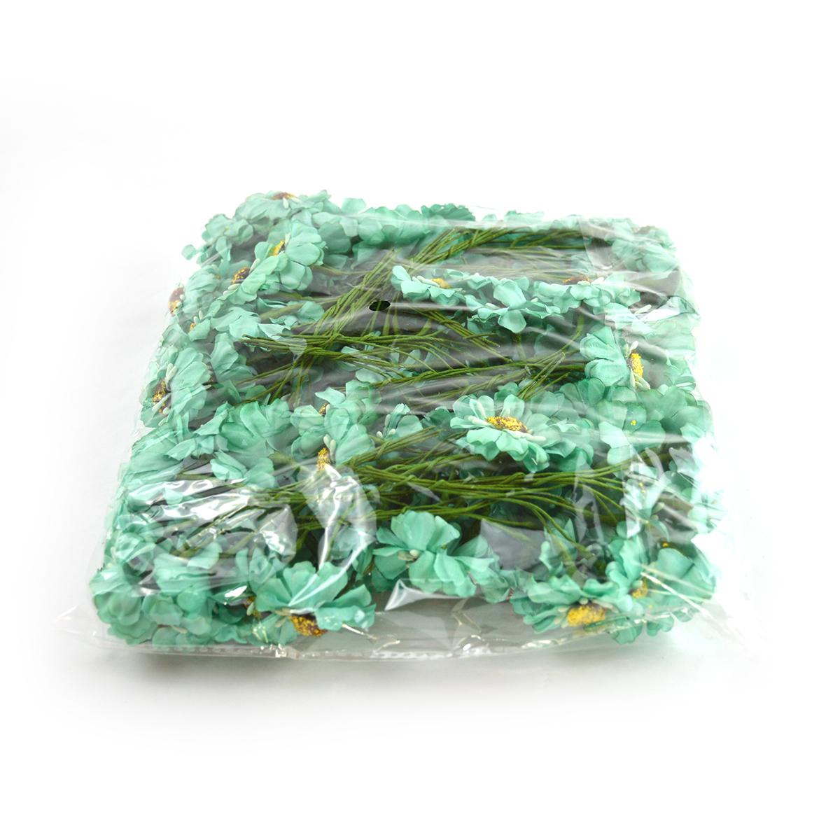 Set 144buc mini margarete cu pistil, verde mint