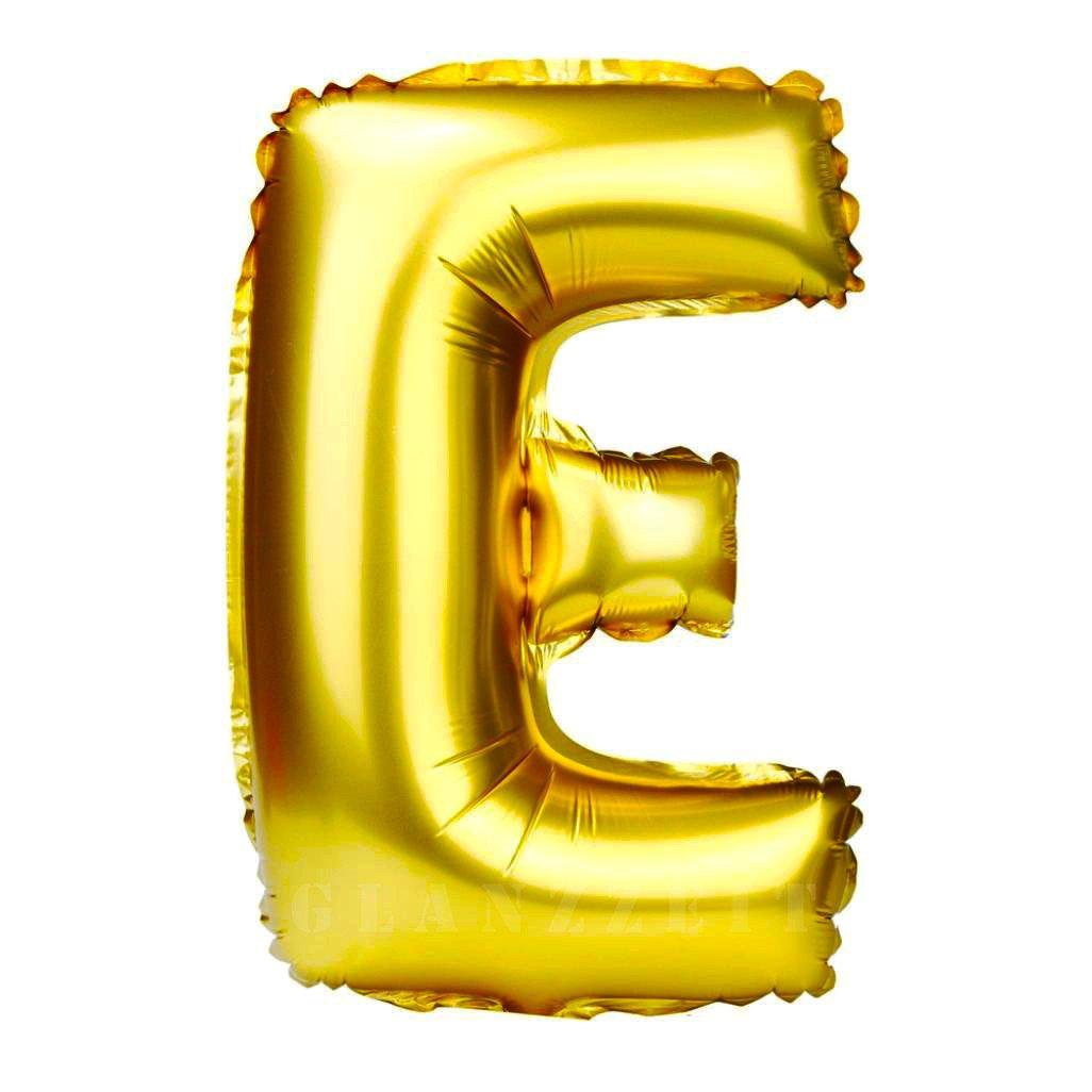 Balon gonflabil auriu 55 cm litera E
