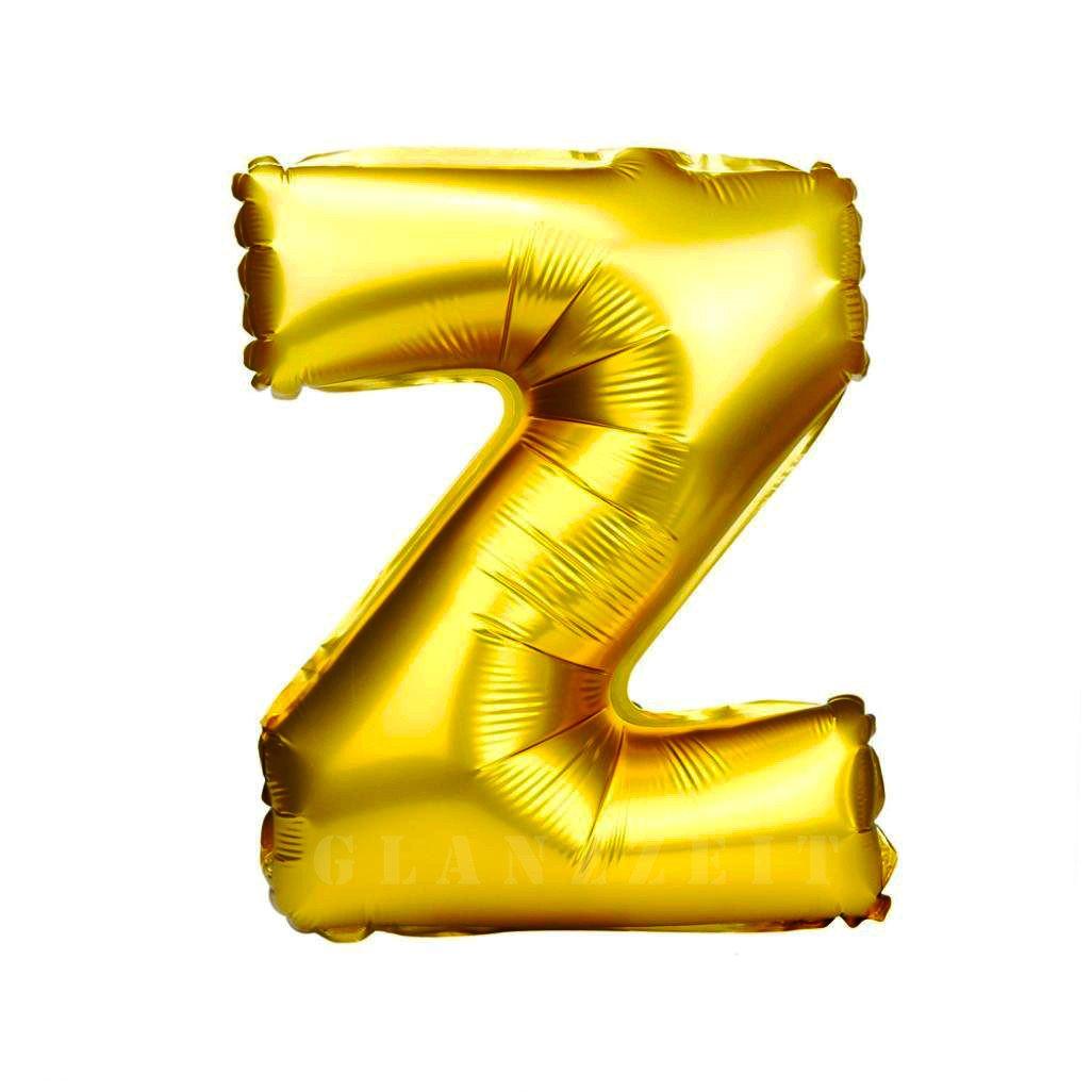 Balon gonflabil auriu 55 cm litera Z