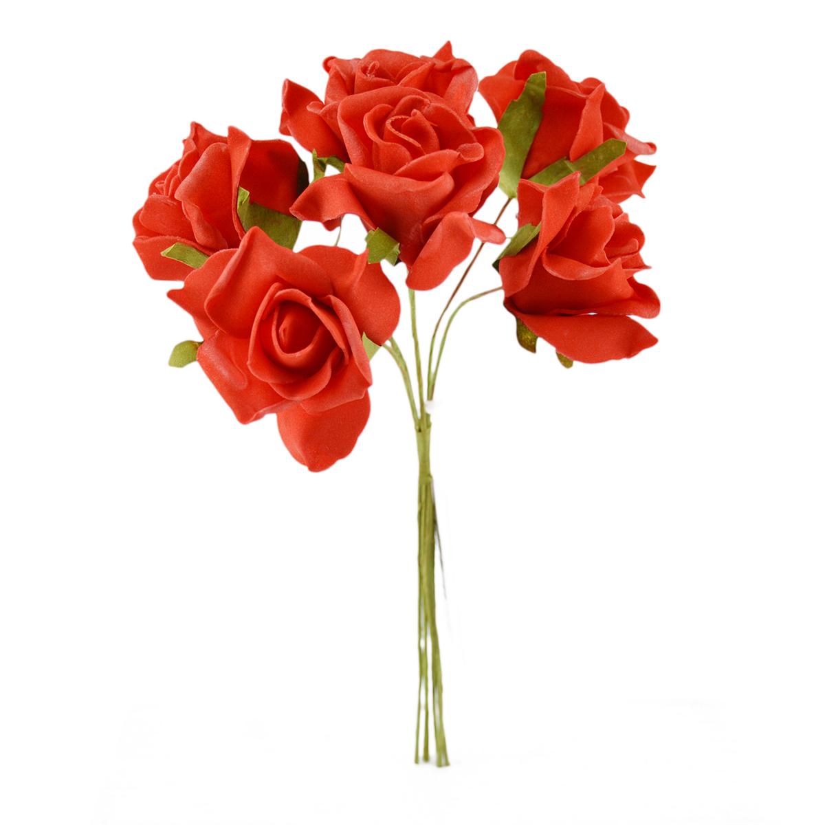 Set Trandafiri din Spuma rosu