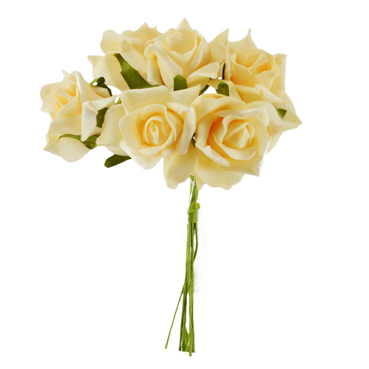 Set Trandafiri din Spuma crem