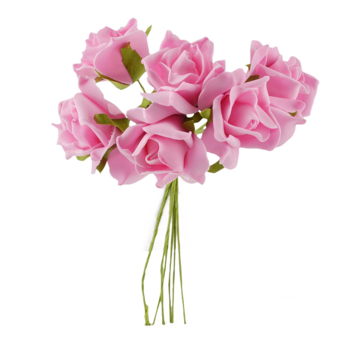 Set Trandafiri din Spuma roz