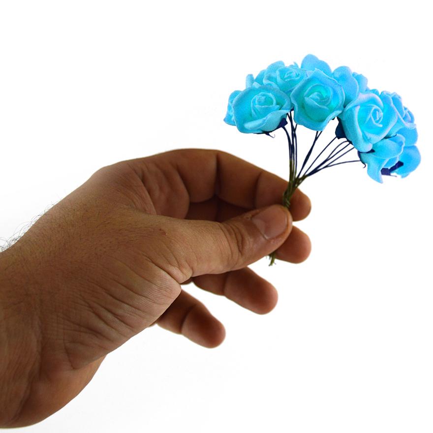 Set 108buc mini trandafiri de spuma, bleo