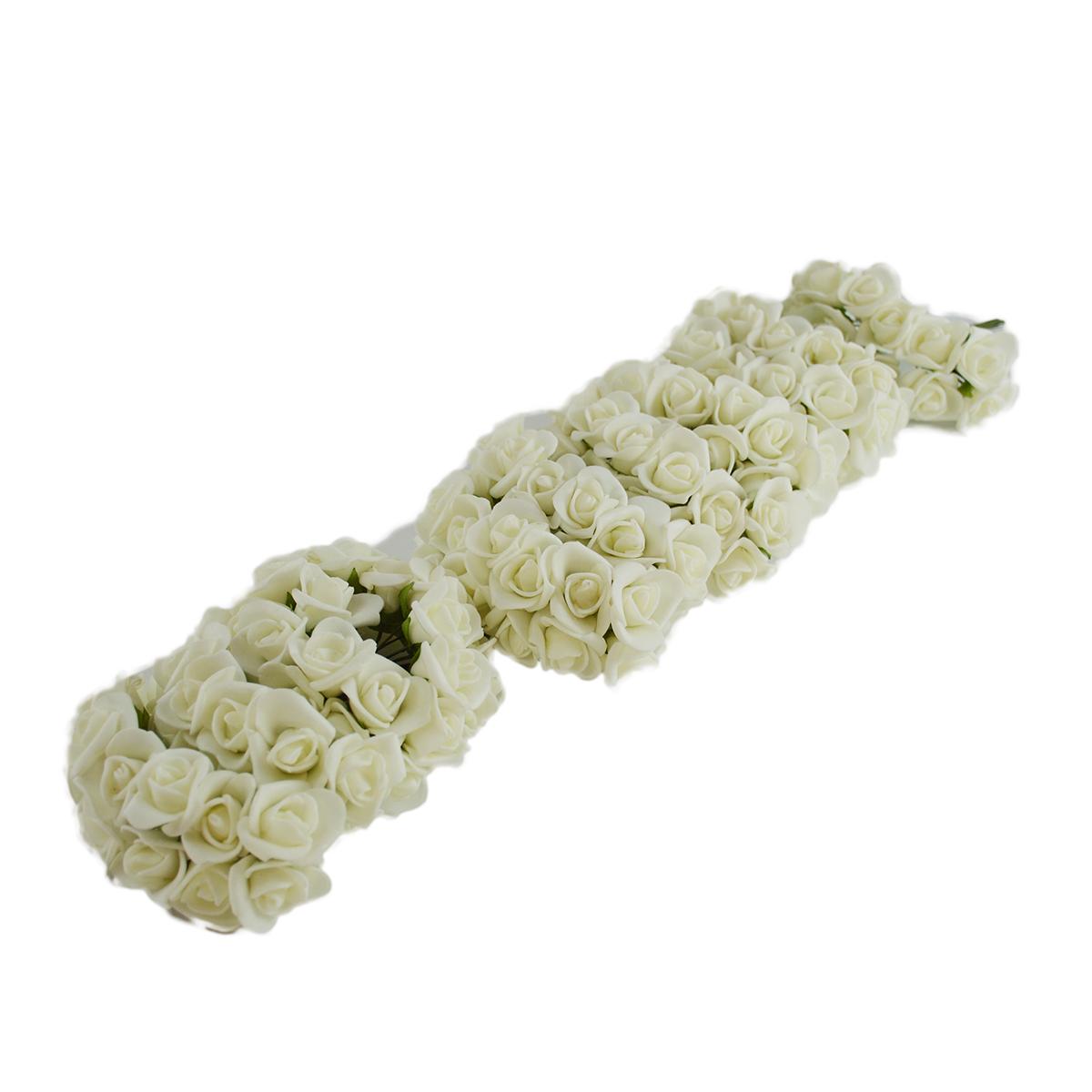 Set 108buc mini trandafiri de spuma, alb