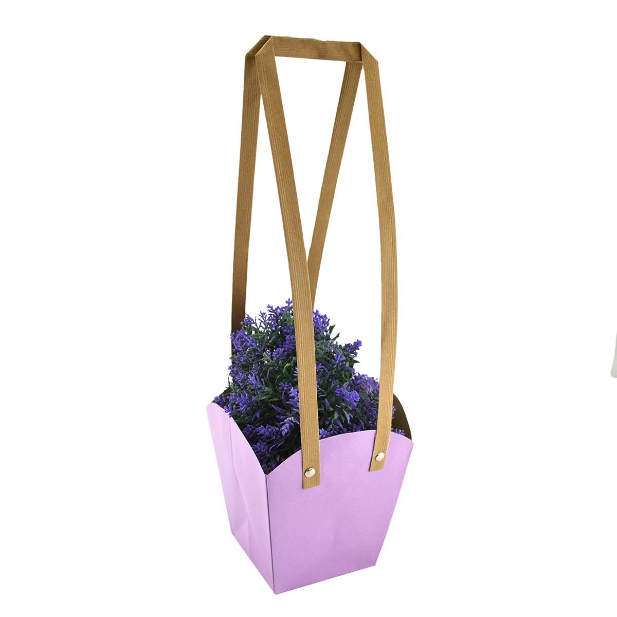 Set 10 buc Sacosa hartie mijlocie lila