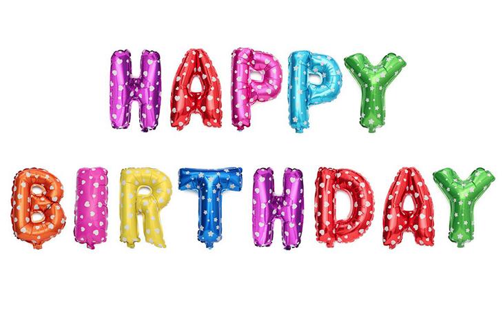 Set baloane gonflabile Happy Birthday