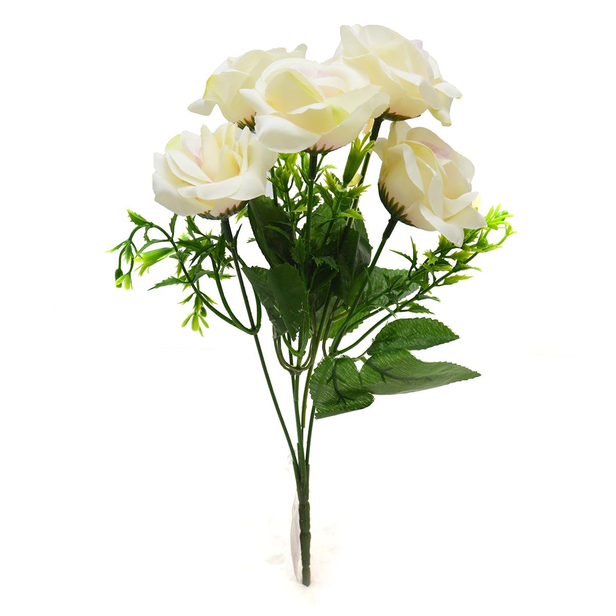 Buchet 5 trandafiri Rhodos alb