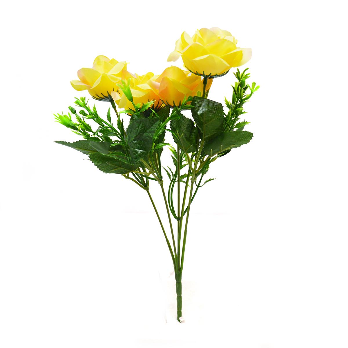 Buchet 5 trandafiri Rhodos galben