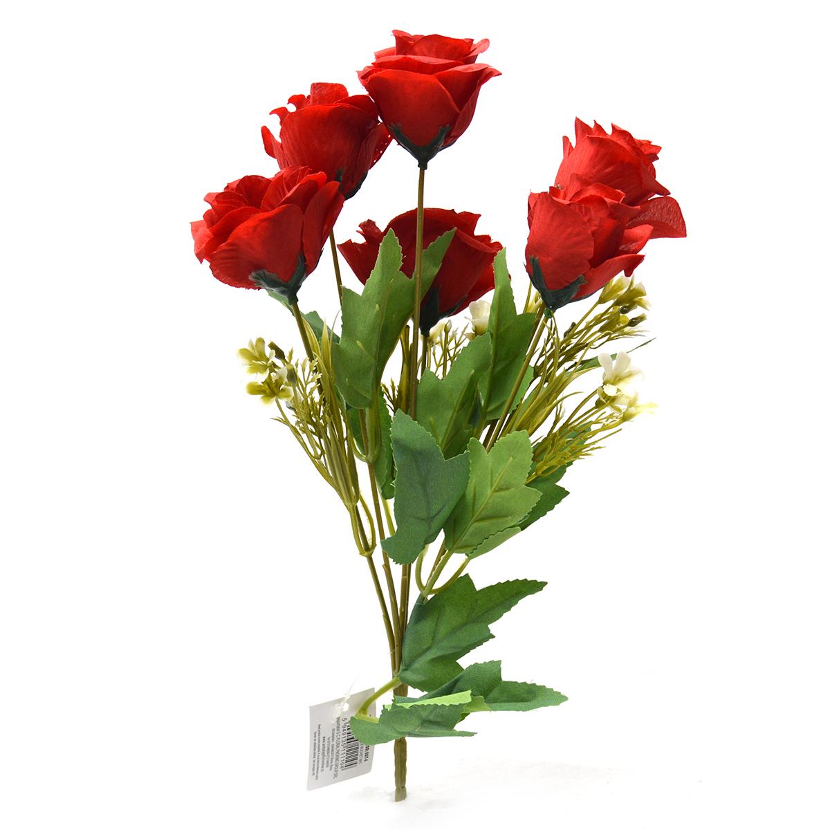 Buchet 7 trandafiri wild rosu