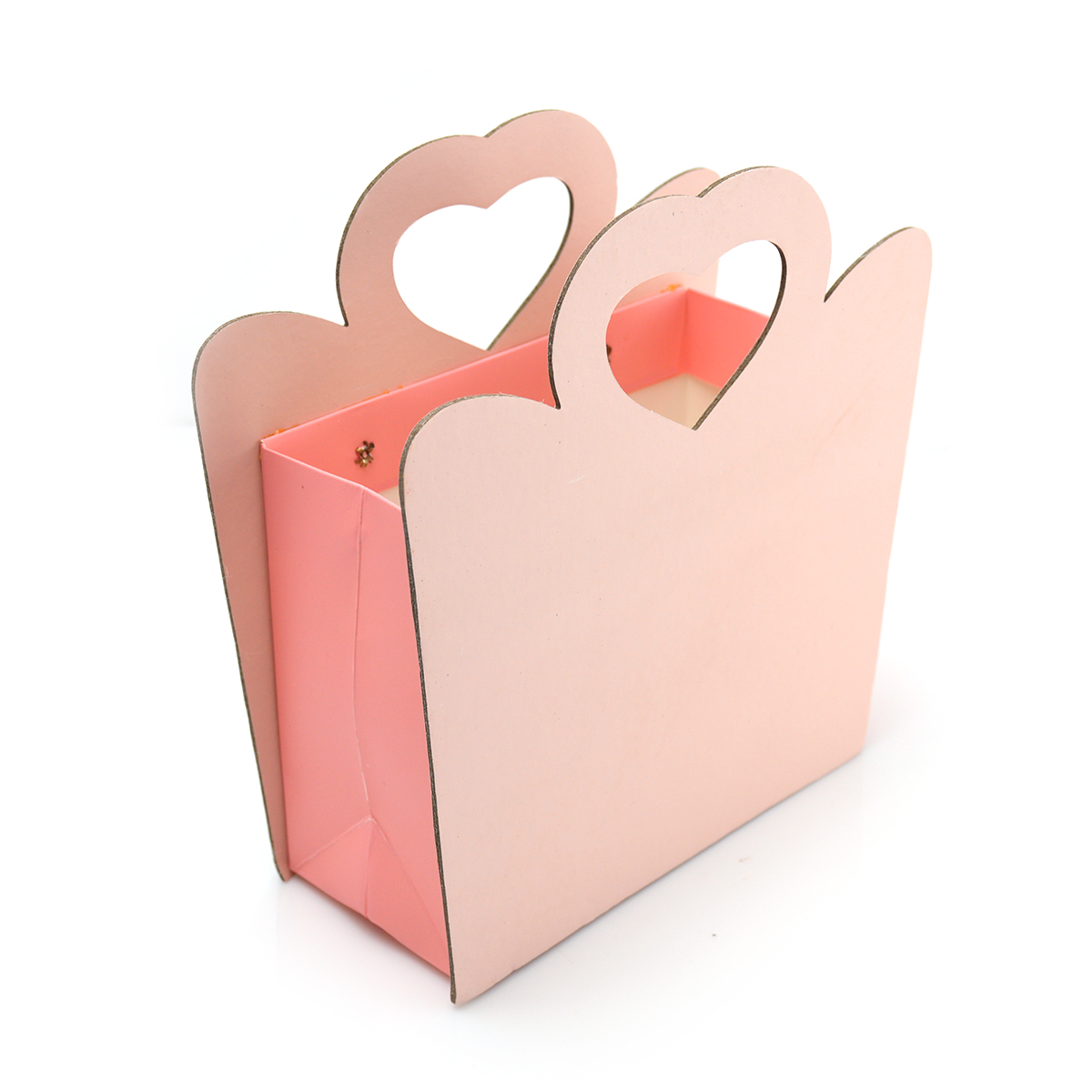 Cutie din carton pliabila maner inima laterale dure, frez