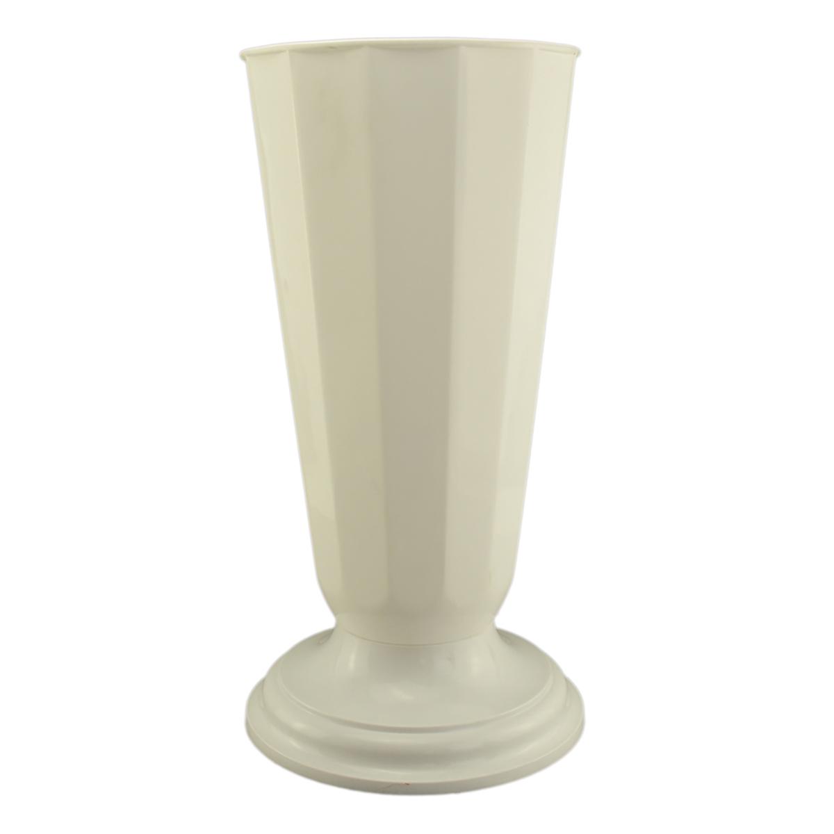 Vaza podea 19x48 cm alb