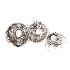 Set 3 suporti buchet din nuiele natur