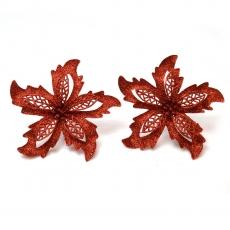 Set 2 ornamente craciunita cu sclipici 15 cm